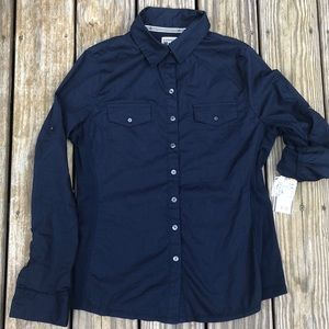 Converse one star navy large shirt